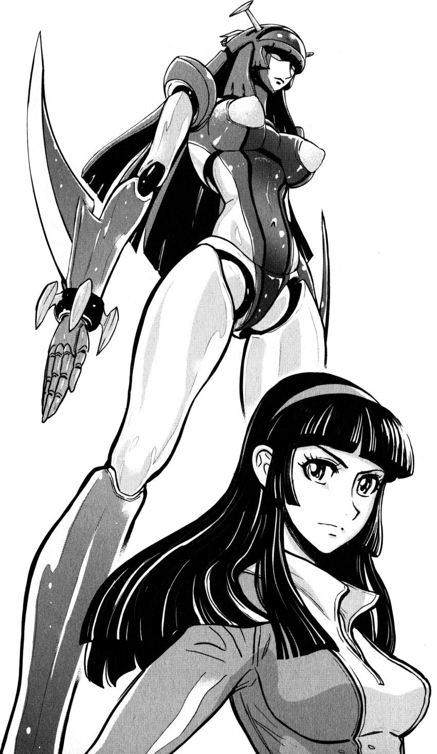 absurdres bodysuit breasts hairband highres mazinkaiser mecha oldschool venus_a yumi_sayaka