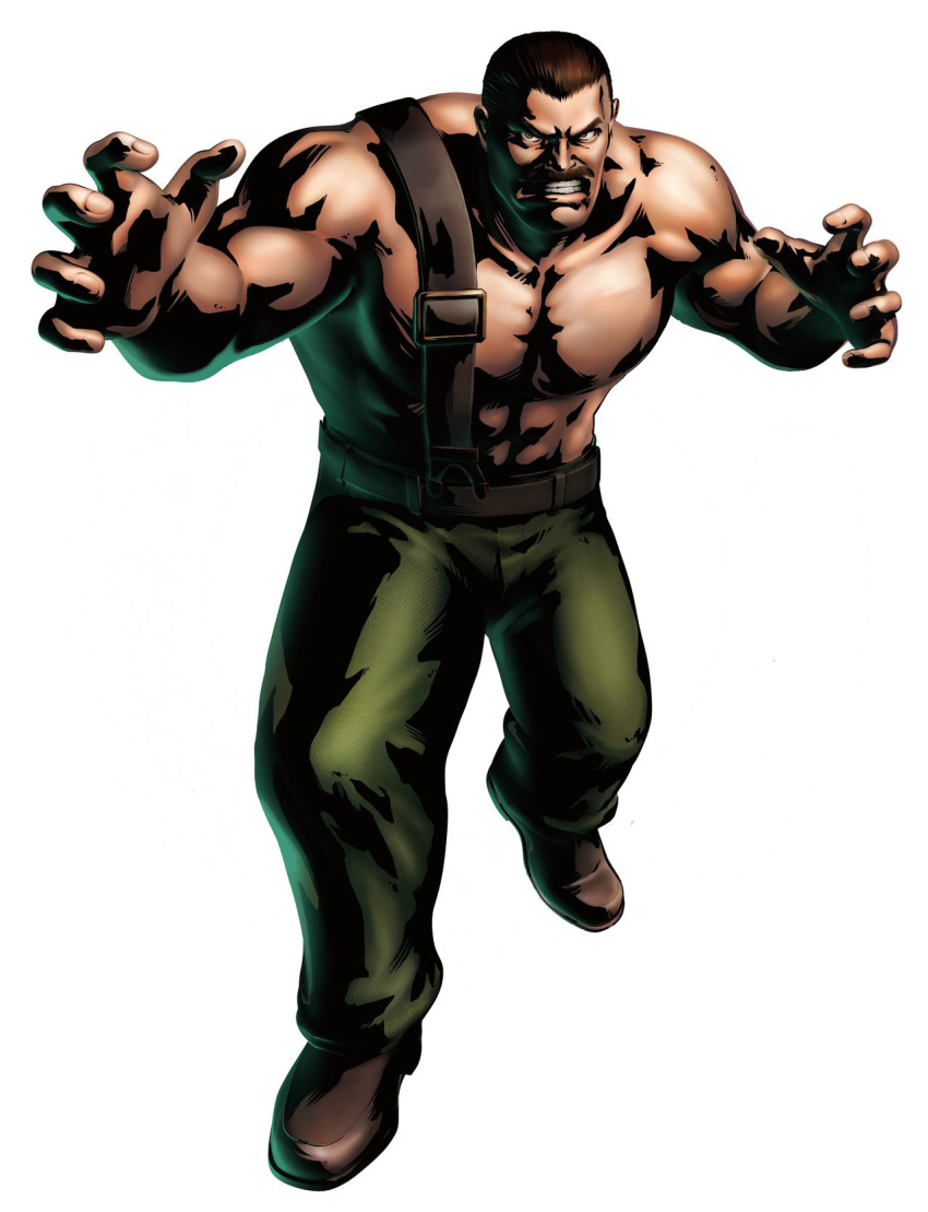 abs angry awesome belt brown_hair capcom facial_hair final_fight highres male manly marvel_vs._capcom marvel_vs._capcom_3 marvel_vs_capcom marvel_vs_capcom_3 mike_haggar mori_toshiaki moustache muscle mustache official_art shinkiro solo