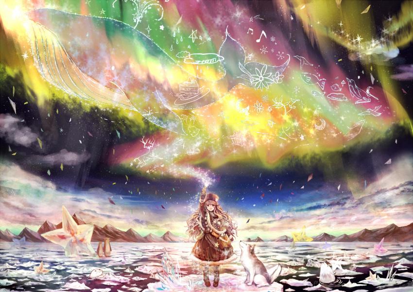 akebane aurora dog highres oekaki_musume original solo star whale