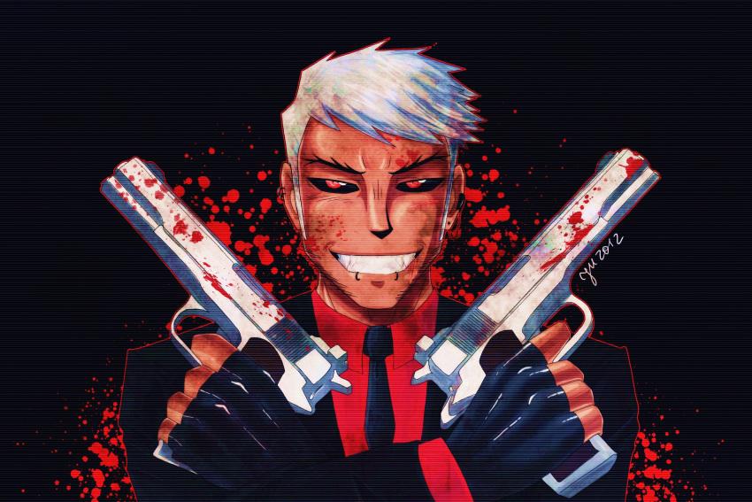 blood gun guns hitman post_traumatic_love_disorder rendall_blagden slayblow