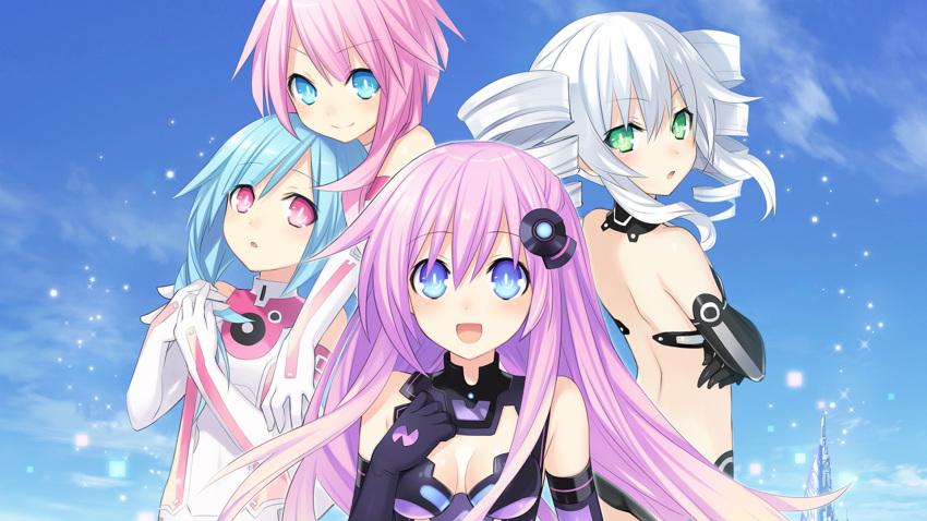 black_sister hyperdimension_neptunia_mk2 purple_sister ram_(neptune_series) rom_(neptune_series) tsunako