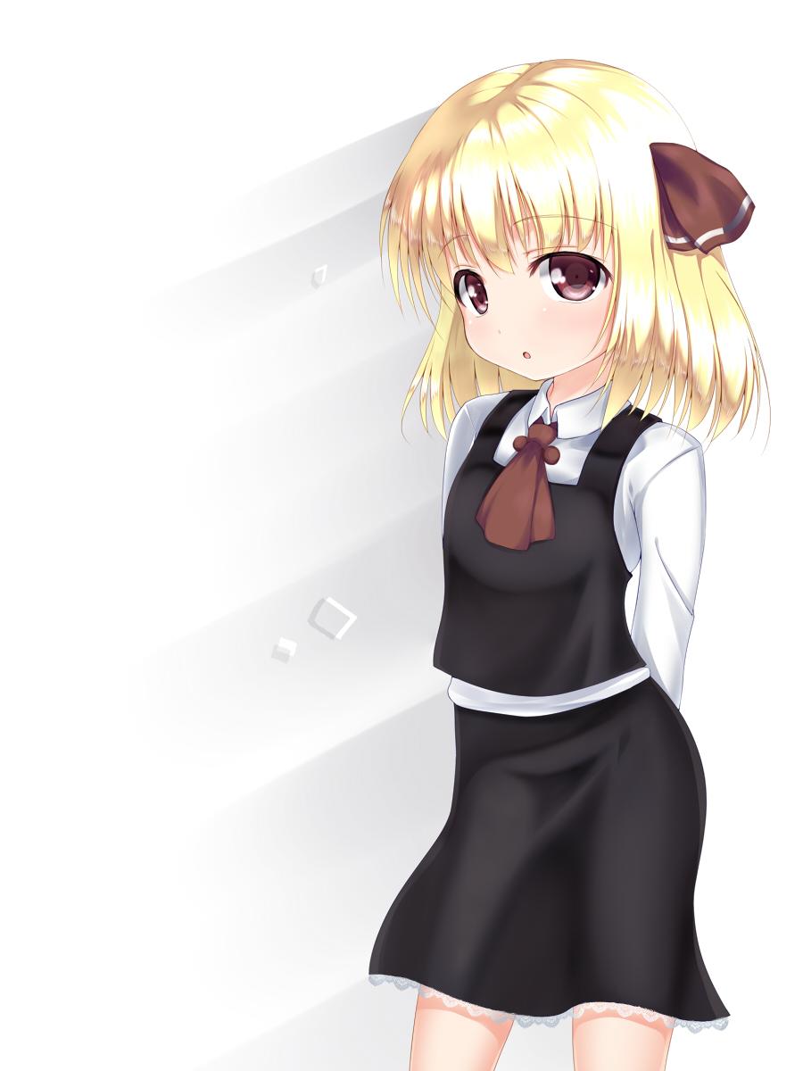 Safebooru - 1girl arms behind back asanagi black legwear