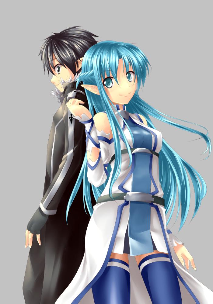 1girl asuna_(sao) asuna_(sao-alo) bare_shoulders blue blue