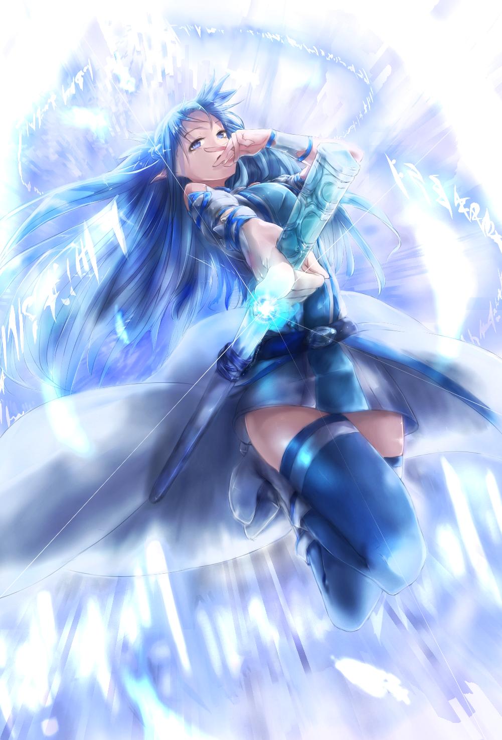 Safebooru - 1girl asuna (sao) asuna (sao-alo) blue eyes