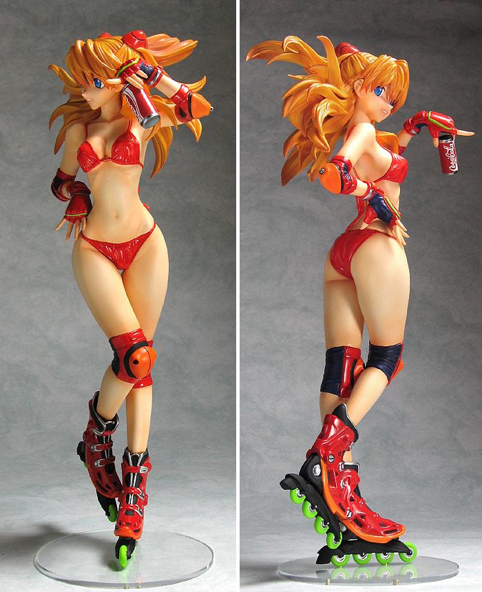 Safebooru - 1girl ass bare legs bare shoulders bikini breasts brown hair coca-cola female figure ...