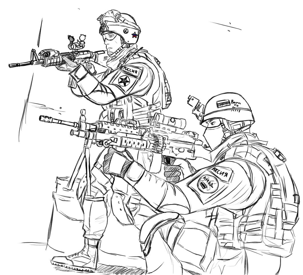 Милитари раскраска