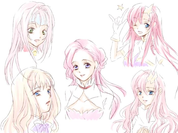 Аниме прически для девушек длинные волосы