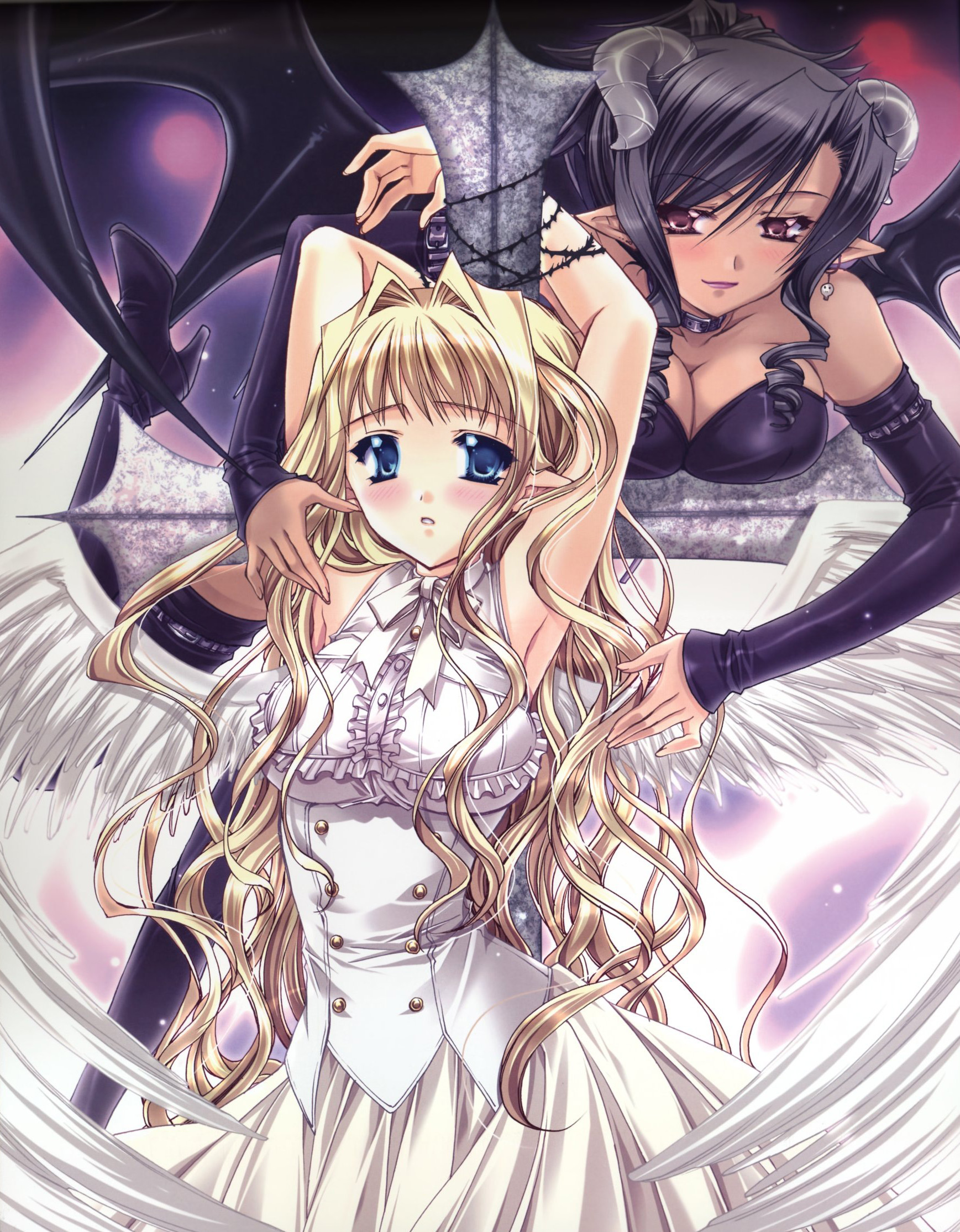 Safebooru - angel angel and devil armpits barbed wire bdsm
