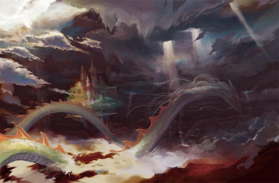 dragon landscape scenic wallpaper - photo #35