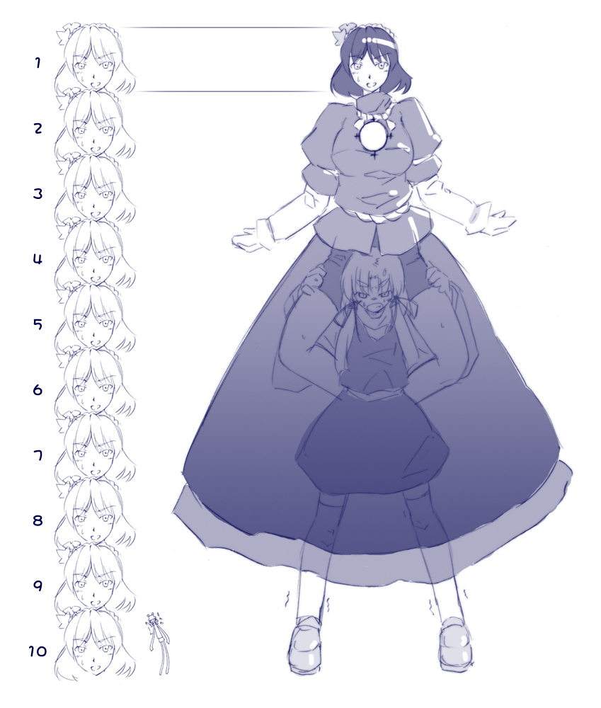 Carrying Head Height Chart Konoe Yuba