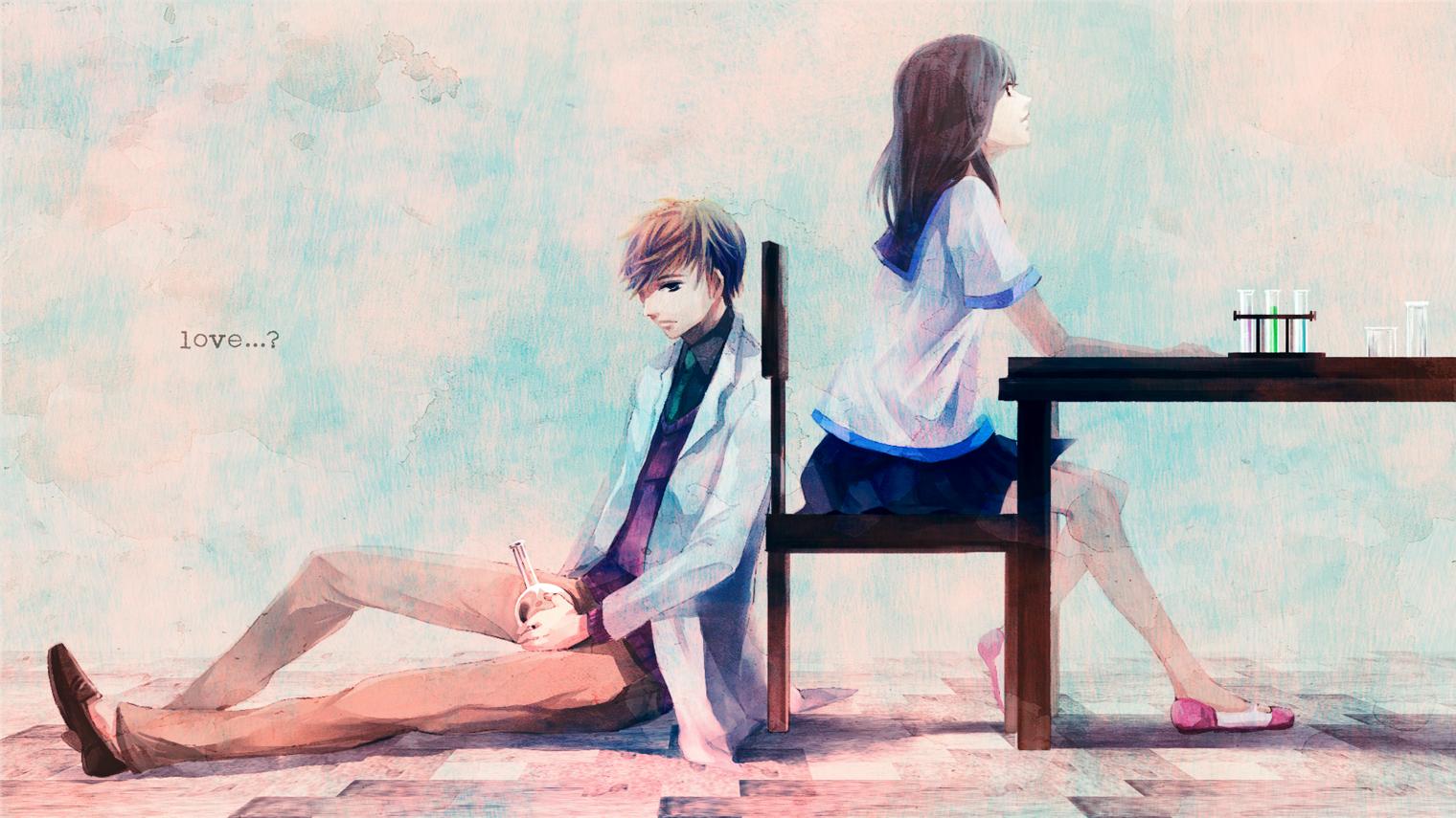 Фото парень и девушка за партой 2