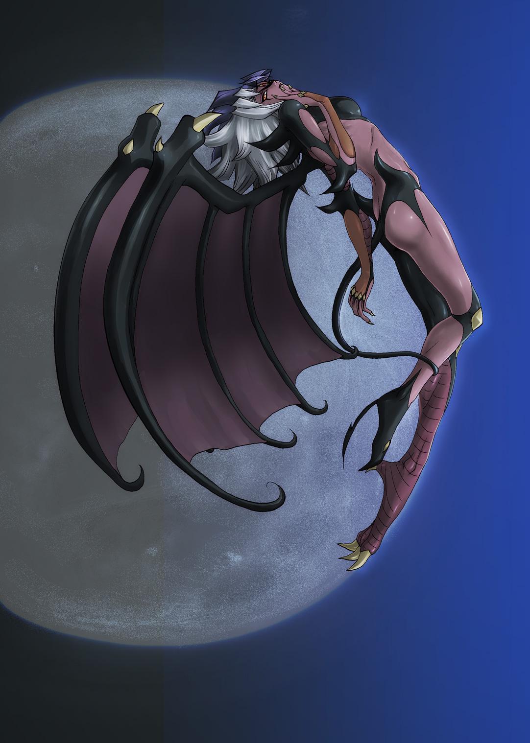 Safebooru - claws demon girl demon wings duel monster full