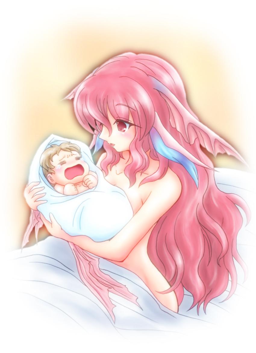 Redhead pink puffy nipples