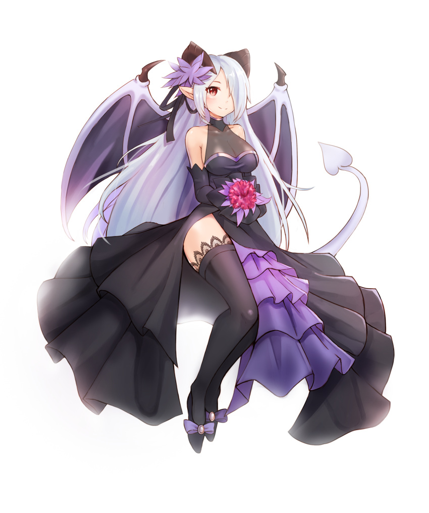 Safebooru - 1girl backlighting bare shoulders black dress