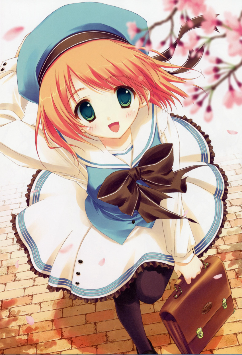 Anime girl with orange hair and blue eyes tumblr