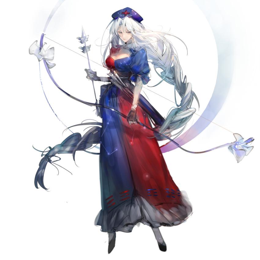 Safebooru - 1girl absurdres ass bangs black legwear blue