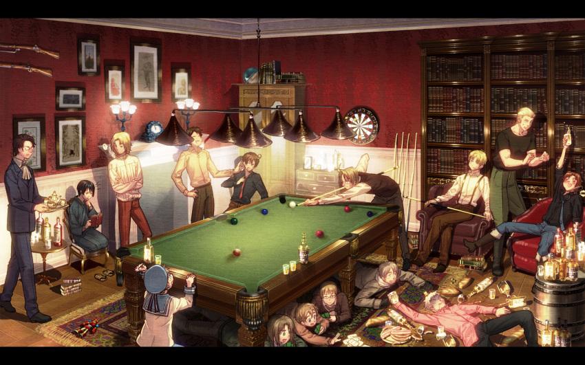 Safebooru 15boys D Ahoge Alcohol America Hetalia