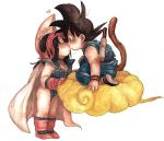 child couple dragon_ball dragonball kintoun kiss lowres nitako nyoibo simple_background son_goku son_gokuu tail young rating:Safe score:3 user:Gelbooru