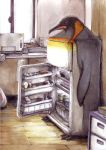 bird freezer lowres mugi_asaki penguin traditional_media rating:Safe score:1 user:Gelbooru