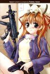 1girl black_eyes blush brown_hair cat goggles gun highres kanon piro sawatari_makoto smile solo weapon rating:Safe score:0 user:Ink20