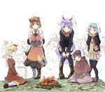 6+girls adapted_costume aki_minoriko aki_shizuha animal_ears apron basket bent_over black_legwear blazer boots brown_hair bucket campfire capelet carrot carrying crowd food fruit grapes hair_ornament heiya in_bucket in_container inaba_tewi jacket jewelry karakasa_obake kawashiro_nitori kiss long_hair long_sleeves mittens mob_cap multiple_girls necklace pendant puffy_short_sleeves puffy_sleeves purple_hair rabbit_ears red_eyes reisen reisen_udongein_inaba scarf shirt short_sleeves siblings silver_hair sisters sitting skirt skirt_set smile sweet_potato tatara_kogasa thigh-highs touhou umbrella very_long_hair wariza winter_clothes rating:Safe score:0 user:danbooru