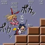 amae_koromo animal_ears bunny_ears cat_ears chibi fake_screenshot ikeda_kana infinite_1up itawozaki_mamoru nintendo parody saki super_mario_bros. thighhighs rating:Safe score:0 user:Gelbooru