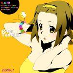 brown_hair cd_cover cover highres k-on! nanao short_hair solo tainaka_ritsu yellow_eyes rating:Safe score:1 user:Gelbooru