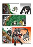 animal_ears black_rock_shooter black_rock_shooter_(character) cat_ears catstudio_(artist) comic evil_grin evil_smile grin hatsune_miku left-to-right_manga prehensile_hair silent_comic smile surprised vocaloid zatsune_miku rating:Safe score:0 user:Gelbooru
