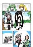 animal_ears black_rock_shooter black_rock_shooter_(character) cat_ears catstudio_(artist) comic hatsune_miku left-to-right_manga pointing silent_comic thighhighs twintails vocaloid zatsune_miku rating:Safe score:0 user:Gelbooru