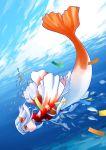 fish head_fins headfins hirai_yukio japanese_clothes kimono mermaid monster_girl ningyo ocean red_eyes short_hair smile underwater water white_hair rating:Safe score:0 user:Gelbooru