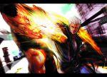 battle blood capcom gene god_hand highres male official_art punch punching smile rating:Safe score:1 user:Gelbooru