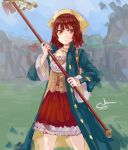 1girl atelier atelier_(series) atelier_sophie brown_eyes brown_hair cerulean_canvas closed_mouth coat looking_at_viewer open_coat sophie_neuenmuller  rating:safe score: user:elt.nam