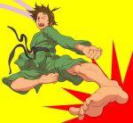 brown_hair capcom dougi feet kick kicking makoto pov_feet punch punching reverse_trap short_hair street_fighter tomboy wink yamamiya_hiroshi rating:Safe score:2 user:Gelbooru