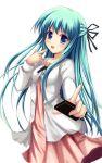 aria dress green_hair kazumasa long_hair original uniform  rating:safe score: user:gelbooru