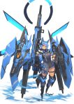 1girl absurdres animal_ears blue_theme cat_ears highres mecha mecha_musume original syaha rating:Safe score:1 user:danbooru