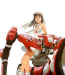 1girl bangs bare_shoulders breasts brown_hair dress engine flame_print floating_hair fuego ground_vehicle kasahara_tetsurou looking_afar mecha medium_breasts medium_hair motor_vehicle motorcycle official_art ogata_rin parted_lips rideback scarf short_dress simple_background sitting sleeveless sleeveless_dress solo sundress white_background white_dress white_footwear white_scarf wind rating:Safe score:0 user:danbooru