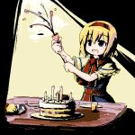 birthday cake chipika food lonely lowres oekaki party_popper pastry shanghai_doll solo touhou rating:Safe score:3 user:Gelbooru