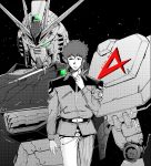 1boy amuro_ray char's_counterattack earth_federation green_eyes gundam highres hiyon_k looking_down looking_to_the_side mecha monochrome nib_pen_(medium) nu_gundam space traditional_media uniform v-shaped_eyebrows rating:Safe score:0 user:danbooru