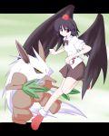 1girl crossover miyo_(miyomiyo01) poke_ball pokemon pokemon_(creature) shameimaru_aya shiftry touhou rating:Safe score:0 user:Gelbooru