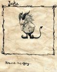 children's_book comic demon_tail horns monochrome original silent_comic tail toi_(number8) traditional_media rating:Safe score:0 user:danbooru