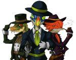 gun hat iodrome monocle monster_hunter name_characters necktie pipe tagane velocidrome weapon rating:Safe score:0 user:danbooru