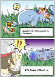 2koma comic hard_translated hirune12 kotone_(pokemon) pokemon pokemon_(creature) quagsire translated rating:Safe score:4 user:danbooru