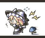 blonde_hair blush chibi hat kirisame_marisa mushroom new_super_marisa_land tears touhou truth witch_hat rating:Safe score:0 user:danbooru