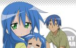 blue_hair family izumi_kanata izumi_konata izumi_soujirou lucky_star rating:Safe score:0 user:KonaChan