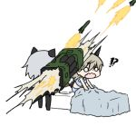 2girls bed chibi eila_ilmatar_juutilainen firing multiple_girls o_o pantyhose rocket_launcher sanya_v_litvyak shibi_(giinu) strike_witches wavy_mouth weapon rating:Safe score:0 user:danbooru
