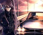 car chain cloud kaito kamui_gakupo lens_flare long_hair motor_vehicle nissan nissan_skyline road sword takemori_shintarou vehicle vocaloid weapon rating:Safe score:1 user:danbooru