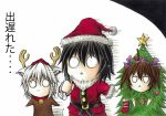 candy_cane christmas christmas_tree hidefu_kitayan himekaidou_hatate inubashiri_momiji o_o ornament reindeer shameimaru_aya star touhou translation_request rating:Safe score:2 user:danbooru