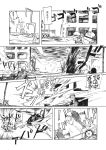 barbed_wire comic explosion firing gun gunba helicopter m16 monochrome original pixiv_manga_sample rifle ruins sandbag translated weapon rating:Safe score:0 user:danbooru