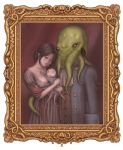 couple cthulhu domo family frame hug if_they_mated illbleed lovecraft monster octopus painting tentacles rating:Safe score:5 user:Gelbooru
