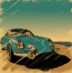 blue_sky car motor_vehicle no_humans renault renault_alpine_a110 rufu_(gfsikisima04) sky vehicle rating:Safe score:2 user:danbooru